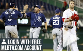 MLB TV Free Game of the Day - Nationals vs Padres May 16 830PM ET