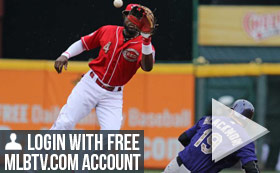 MLB TV Free Game of the Day - Rockies vs Reds 7PM ET