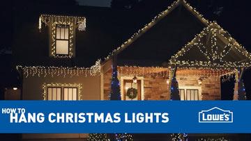 How To Hang Exterior Christmas Lights -