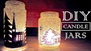 How to Make Candle Holders Recycling Old Jars -