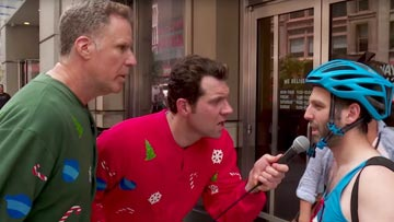Billy on the Street Christmas with Will Ferrell -